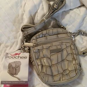 pouchee Bags - Pouchee charcoal grey hipster bag